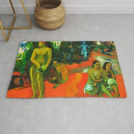 Delectable Waters (Te Pape Nave Nave) (1898) by Paul Gauguin. Rug