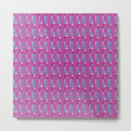 Triangle Lines - Pink Metal Print