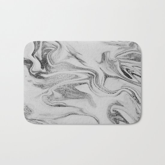 Spilled Ink Marble Bath Mat
