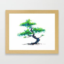 Blue Bonsai Framed Art Print