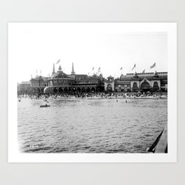 Santa Cruz Beach Boardwalk 1911 Art Print
