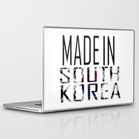 korea Laptop & iPad Skins featuring Made In South Korea by VirgoSpice