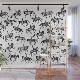Dressage Horse Silhouettes Wall Mural