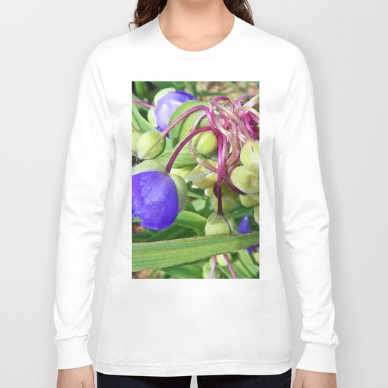 Spiderworts Flower Stems Long Sleeve T-shirt
