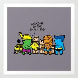 Part Time Job - Constructions Art Print