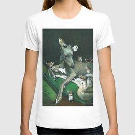 Whippet With Little Friends T-shirt