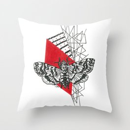 Hawkmoth Abstract Throw Pillow