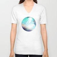 aurora V-neck T-shirts featuring Aurora by Stevyn Llewellyn