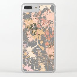 Skin Tones - Liquid Makeup Foundation - on Gray Clear iPhone Case