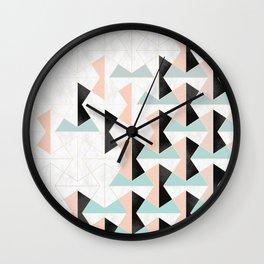 Mixed Material Tiles Wall Clock