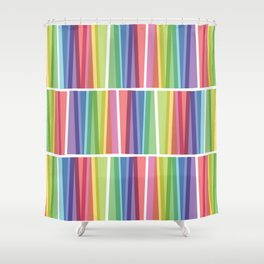 Fig. 047 Rainbow Geometric Keyboards Shower Curtain