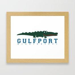 Gulfport Mississippi. Framed Art Print