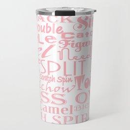 Figure Skating Subway Design in Millennial Pink Travel Mug