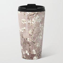 Vincent Van Gogh Almond Blossoms Beige Taupe Travel Mug