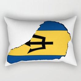 Barbados Map with Barbadian Flag Rectangular Pillow