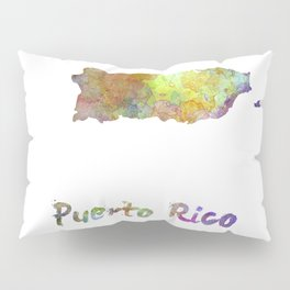 Puerto Rico  in watercolor Pillow Sham
