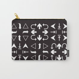 Arrows black and white Carry-All Pouch