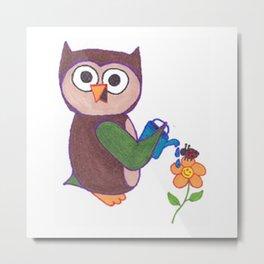 Cartoon Owl Metal Print