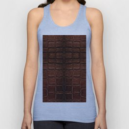 Dark brown snake leather cloth imitation Unisex Tank Top