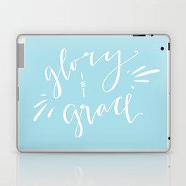Glory and Grace // Blue Laptop & iPad Skin