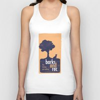 parks and rec Tank Tops featuring Barks and Rec Logo by barksandrec