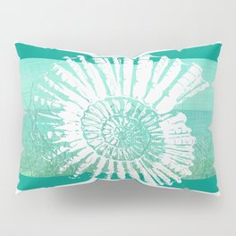 Nautilus Decor Mixed Media Piece Pillow Sham