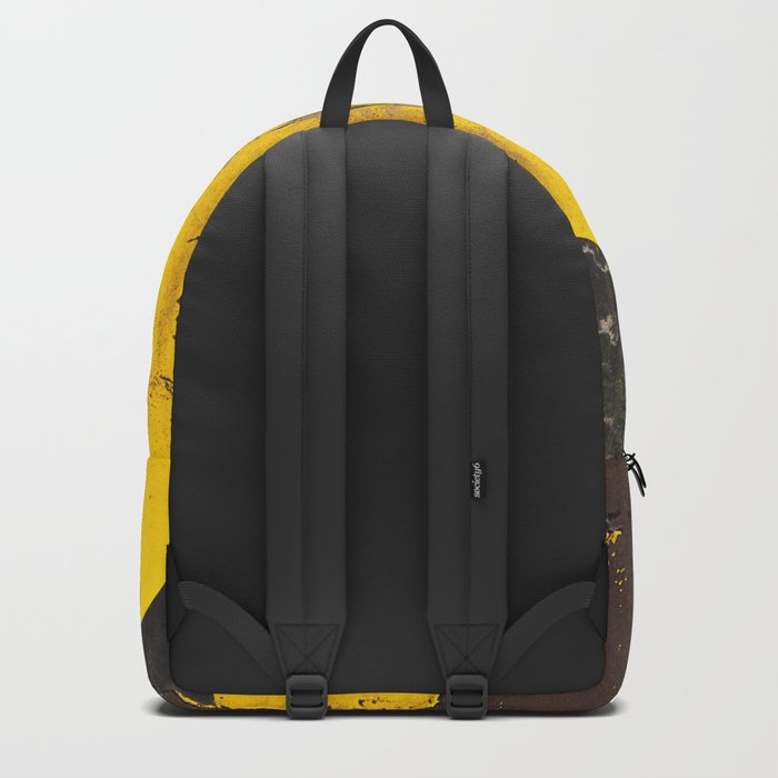 black numbers on yellow background Backpack