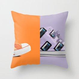 Retro on Retro Throw Pillow