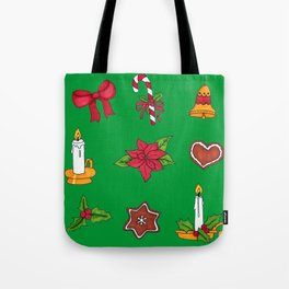 Christmas pattern (#2 green) Tote Bag