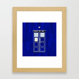 Tardis Art Blue Phone Both Framed Art Print
