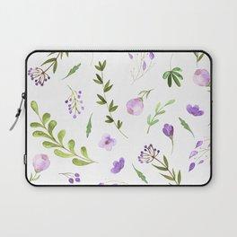 Purple Flower Field Laptop Sleeve