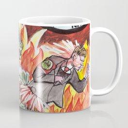 Godzilla vs The Nazis Coffee Mug