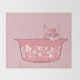 Cat in Bowl #1 Throw Blanket