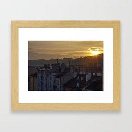 Sunrise Praha Framed Art Print