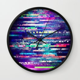 Cosmic stripes Wall Clock