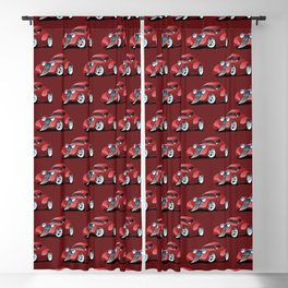 Red Street Rod / Hot Rod Custom Coupe Blackout Curtain