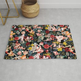 Floral and Pin-Up Girls IV Rug