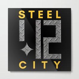Steel City 412 Pittsburgh Design Gifts Metal Print