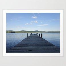 Summer Lake Dock Art Print