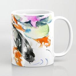 Nine Koi Fish, 9 KOI, feng shui artwork asian watercolor ink painting Coffee Mug