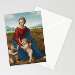 Madonna in the Meadow by Raphael Stationery Cards
