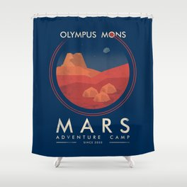Mars adventure camp Shower Curtain