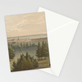 Vintage Pictorial View of Toronto Canada (1851) Stationery Cards