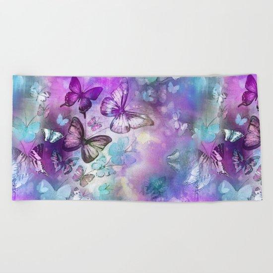 Butterflies Dreaming Beach Towel