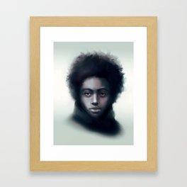 Black man with scarf - digital portrait Framed Art Print