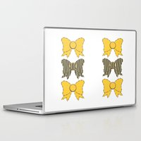 bows Laptop & iPad Skins featuring Sunshine Bows  by Ambers Illustration