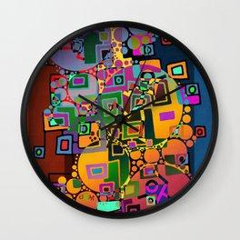 Cubism Modern Art - Dancing In The City 1 Wall Clock