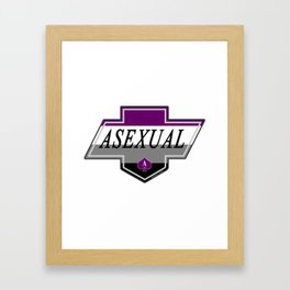 Identity Stamp: Asexual Framed Art Print