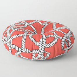 Red Rope Pattern Floor Pillow