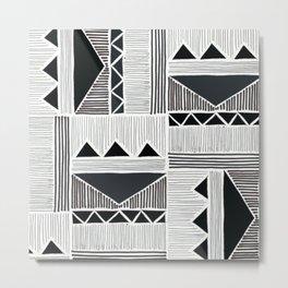 African Tribal Pattern No. 74 Metal Print